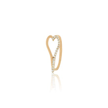 Load image into Gallery viewer, Heart Half Pave Ring