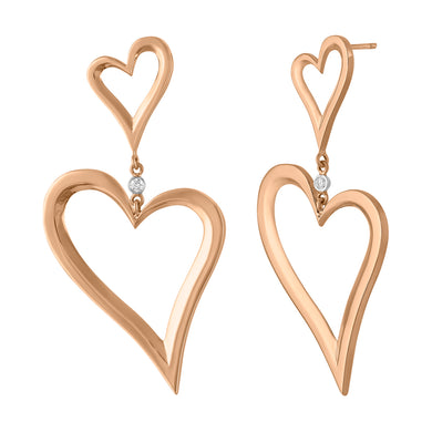 Heart  Statement Earring
