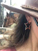 Load image into Gallery viewer, Star Hoop Earrings Ready to Ship