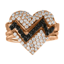 Load image into Gallery viewer, Heart Throb Diamond Pave Ring