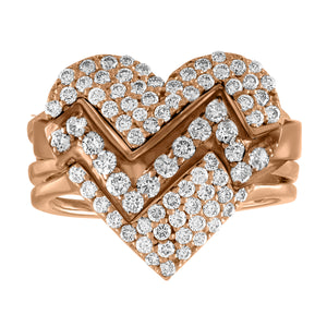 Heart Throb Diamond Pave Ring
