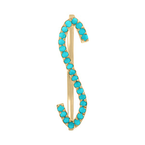 Letter Rings - Turquoise