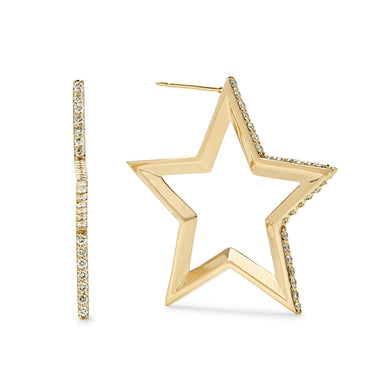 Star Hoop Earrings Immediate Delivery