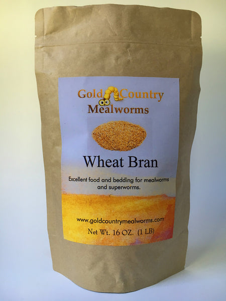 Whet bran bedding for mealworms