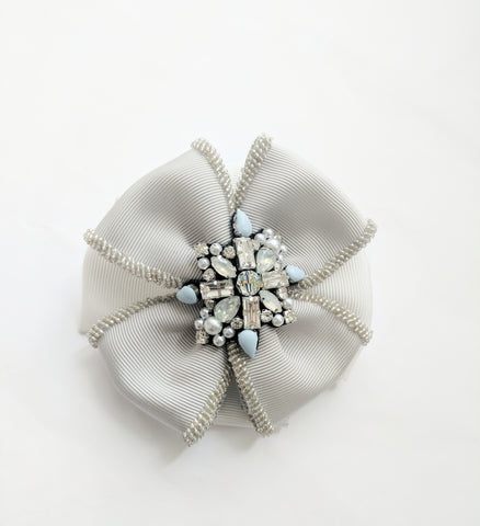 Metalise Beaded Brooch