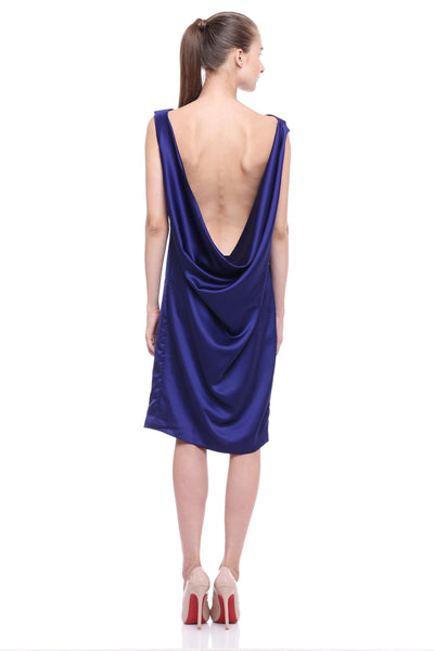 Lowback Draped Dress