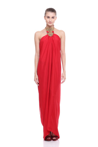 Desafinado Silk Halter Dress