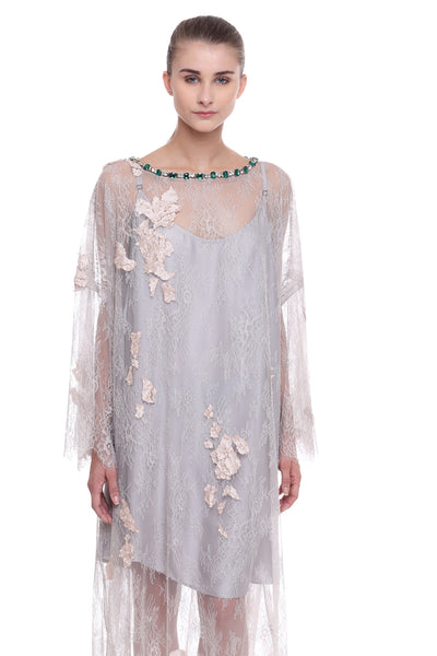 Lace Kaftan Laser Cut Dress