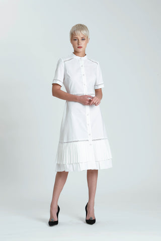 Milva Paneled Organic Poplin Dress