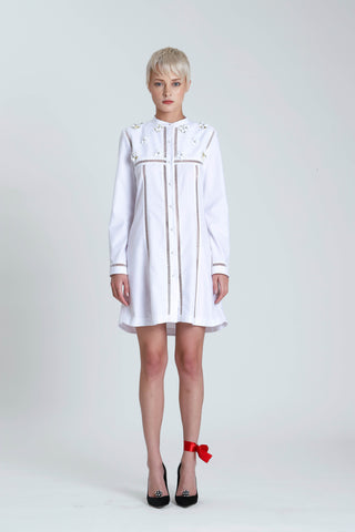 Abra Paneled Shirt Dress