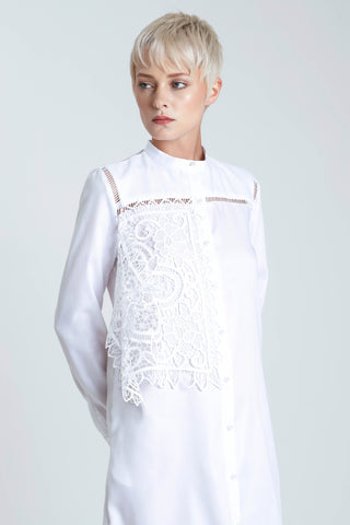 Clemantis Lace  Panelled Shiritng