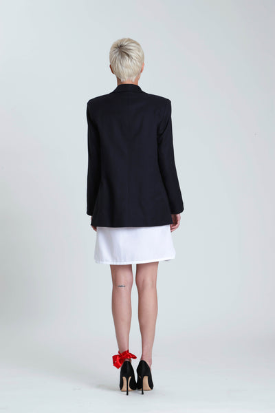 Veronica Oxford Contoured Collar Box Jacket