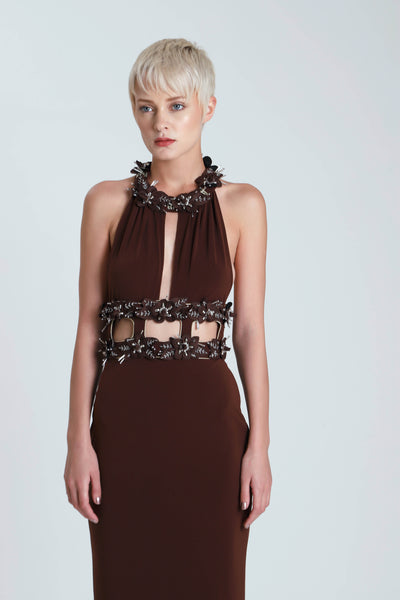 Seance Halter Necline Jersey Dress