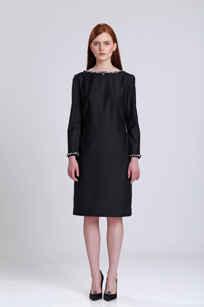Shift Dress with Embelishment
