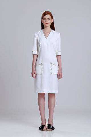 Embelished Wool dress