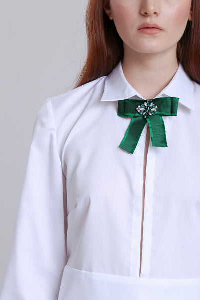 Shirting with ribbon embelishment