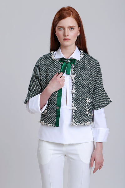 Green Stripes Bolero