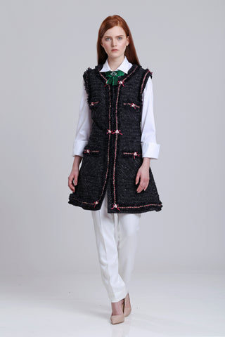 Tweed Vests with ruffles