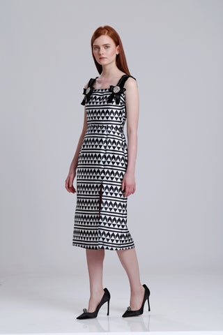 Printed Twill Tube dress