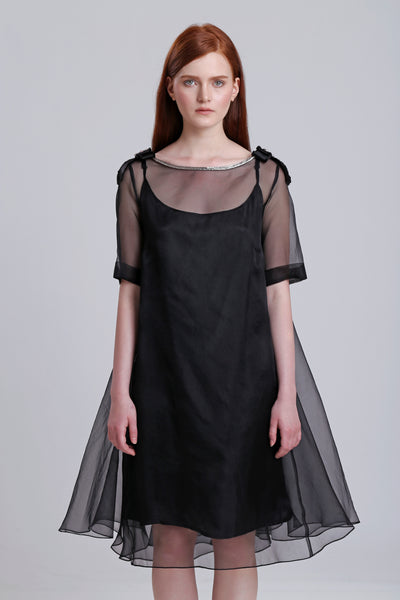 Silk Organza Oversize dress