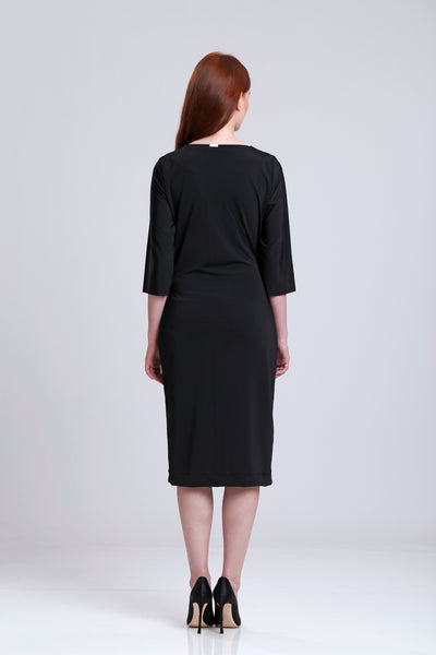 Black Wrap Over Stretch dress