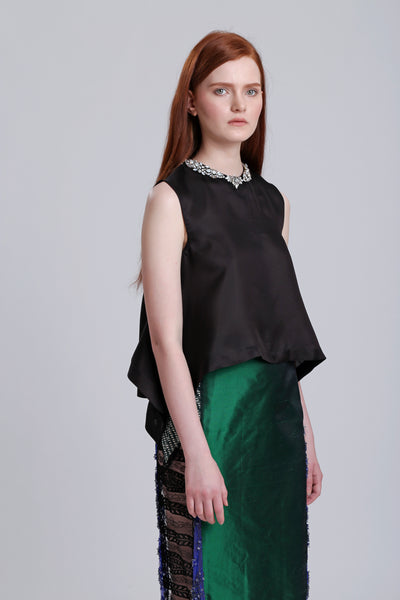Black Embelished Top