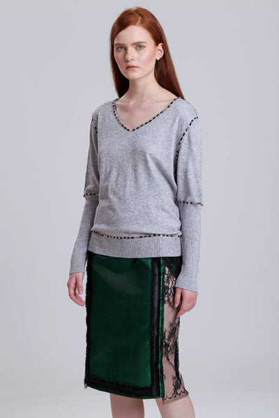 Beaded Cashmere pullover