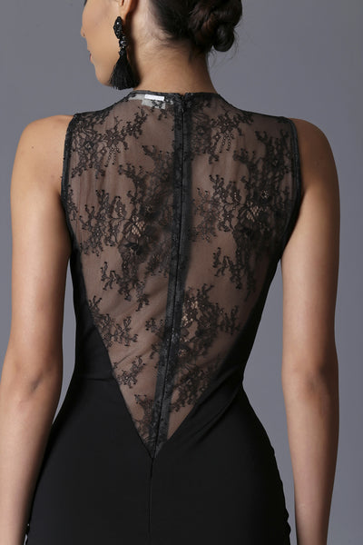 Magnetite Lace Panel Dress