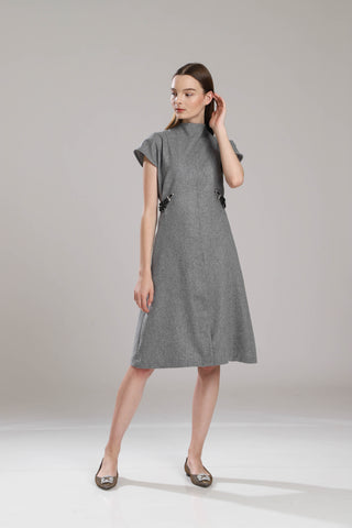 Appleton Wool With Side Beading Dress