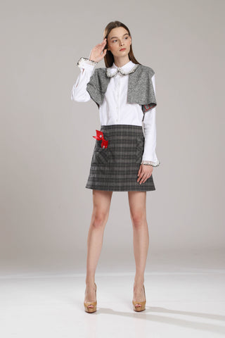 Bedford Mini Checkered Skirt