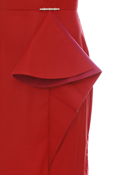 Caia Ruffle Dress Red