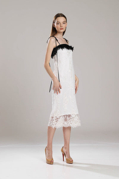 Riviera Lace Feather Dress