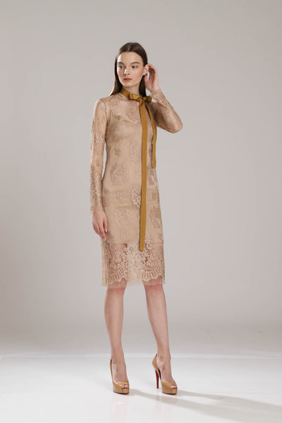Caitlyn French Chantilly Lace Dress