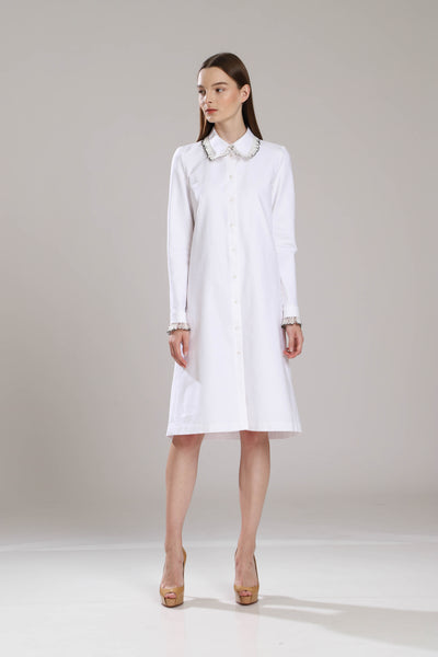 Boyd Feather Shirt Dress