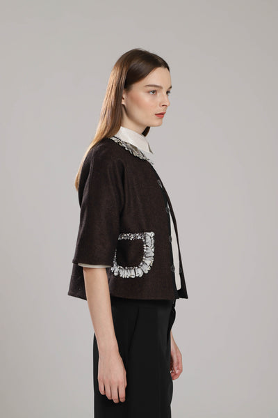 Bershire Wool  and Feather Bolero
