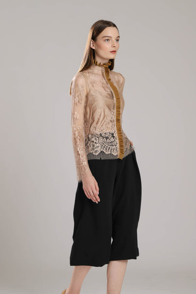 Aberdeen French Lace with Frills Top