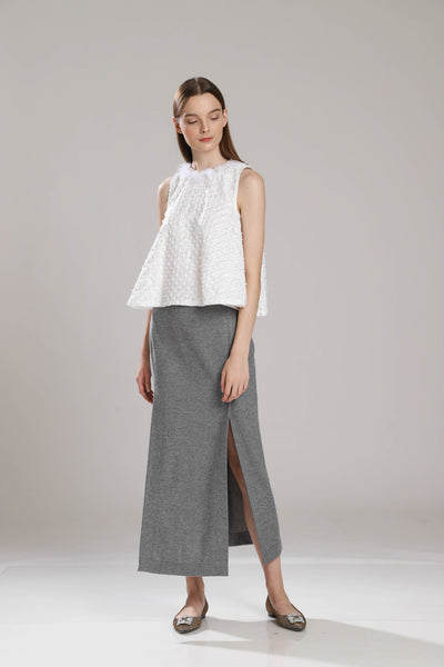 Berquist Wool Long Pencil Skirt