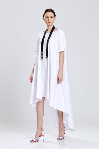 Dsargues Oversize TShirt Dress with Uneven Hem