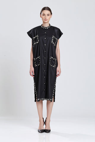 Hygens Square Metalic Studed Oversize Day Dress