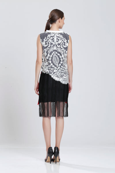 Condorcet Embroidered Lace Top