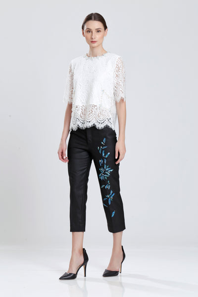 Dames Jeweled Pencil Pants