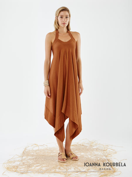 Ioanna Kourbela Natural Elements Halter Dress
