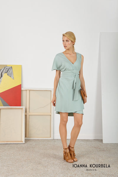 Aqua Croise Mini Dress