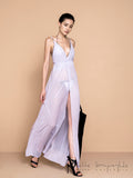 Lively Transparency Croise Maxi Dress