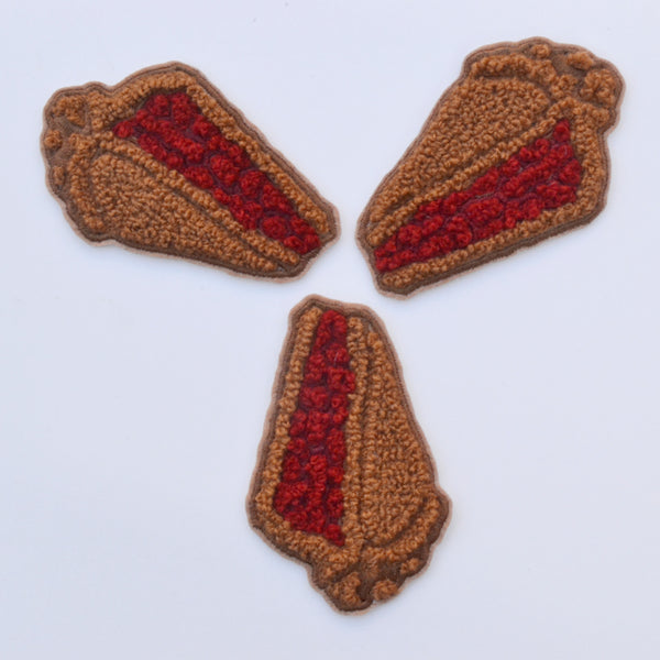 Pie Chenille Patches