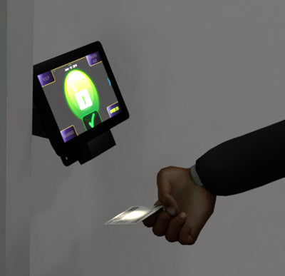 id card being scanned
