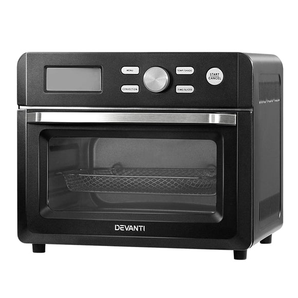 Devanti 20L Air Fryer Convection Oven Oil Free Fryers Kitchen Cooker Accessories Black