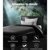 Artiss Neo Bed Frame PU Leather - Black Single