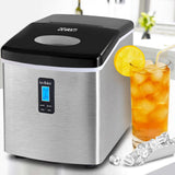 Devanti 3.2L Stainless Steel Portable Ice Cube Maker