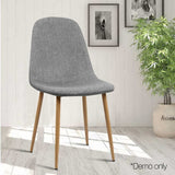 Artiss Set of 4 Adamas Fabric Dining Chairs - Light Grey